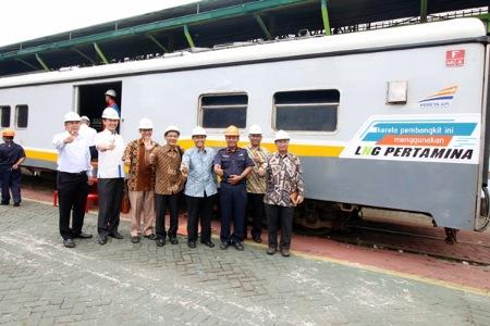 KAI dan Pertamina Uji Coba LNG pada Kereta Api